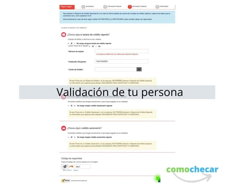 validación de datos personales