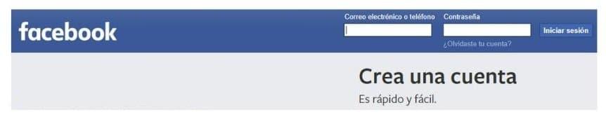 iniciar sesión en facebook desde ordenador