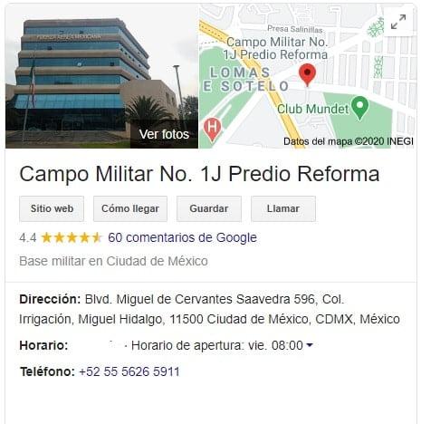 cartilla militar direccion ciudad de mexico