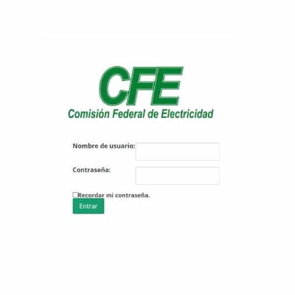 Crear una cuenta CFE