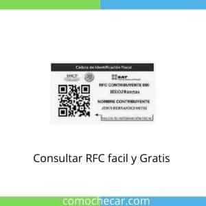 Consultar RFC facil y Gratis