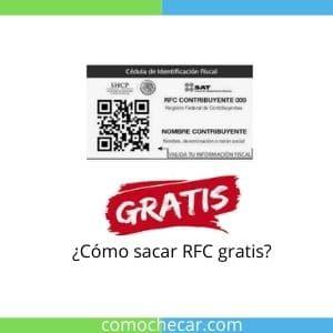 sacar RFC gratis